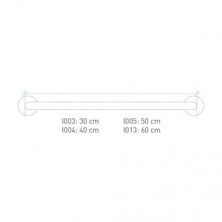 Barra auxiliar recta de 40 cm. I004
