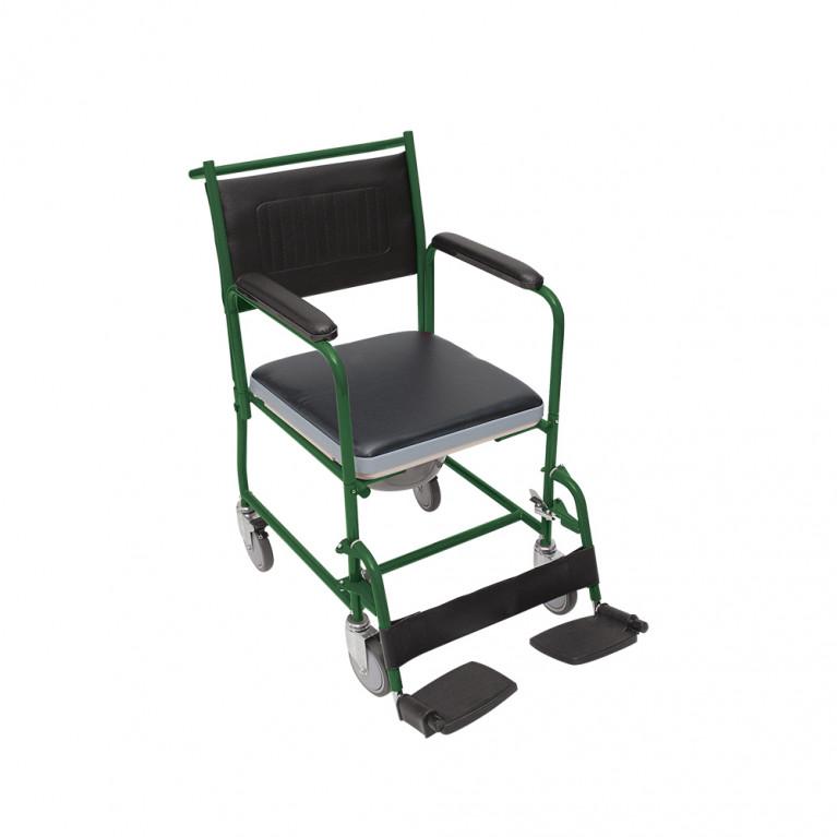 Silla de ruedas Sanitaria con bacinilla. S3016